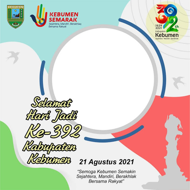 Link Download Frame Bingkai Foto Twibbon Selamat Hari Jadi Kabupaten Kebumen 2021 - Twibbonize
