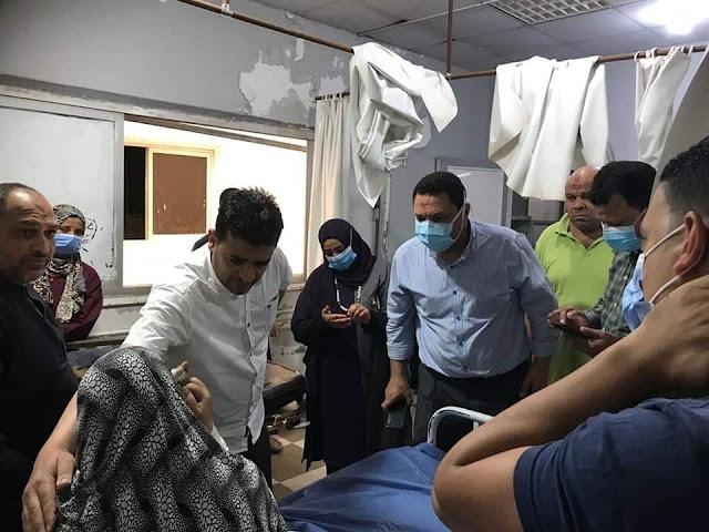 استجابة سريعة لوكيل وزارة الصحة بالمنوفية للاطمئنان علي مصابين بحادث تسريب غاز وانتقال المصابين لمستشفى سرس الليان