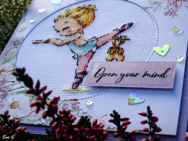 Imieniny miesiąca - kartka z baleriną