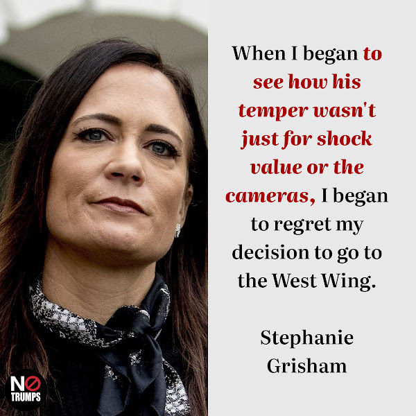 When I began to see how his temper wasn't just for shock value or the cameras, I began to regret my decision to go to the West Wing. — Stephanie Grisham, Trump's former press secretary