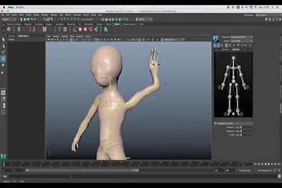 تعليم عمل أفلام كارتون والألعاب بإستخدام برنامج مايا Maya