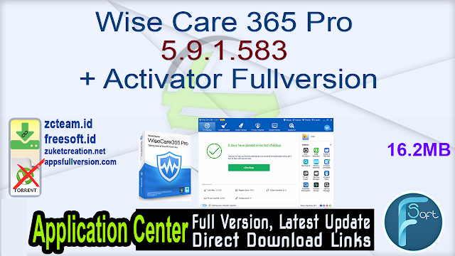 Wise Care 365 Pro 5.9.1.583 + Activator Fullversion