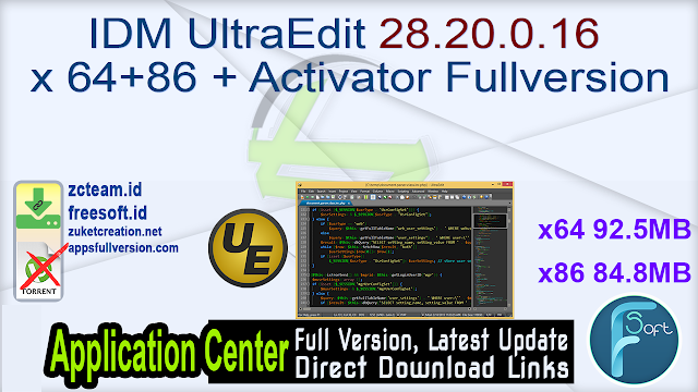 IDM UltraEdit 28.20.0.16 x64+86 + Activator Fullversion