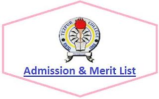 Tezpur College Merit List
