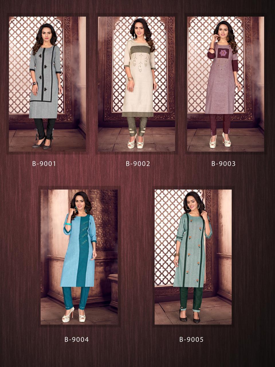 Rijiya Trends Pink City Kurtis Pant Set Catalog Lowest Price