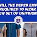 When will the DepEd employees be required to wear the new set of uniforms?