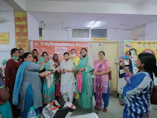 बेटी को जन्म देने वाली माताओं का किया गया सम्मान    #NayaSaberaNetwork