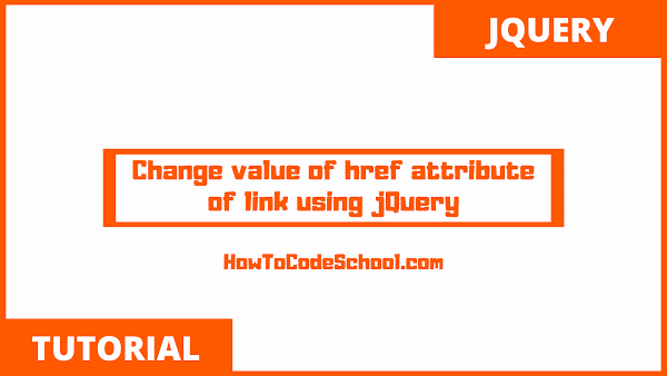 Change value of href attribute of link using jQuery