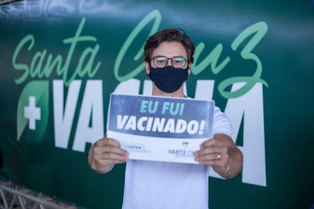 Vacinação contra covid-19 em Santa Cruz terá novo formato a partir desta segunda-feira (18)