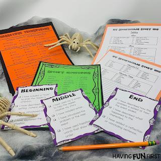 Halloween Narrative Writing Worksheets