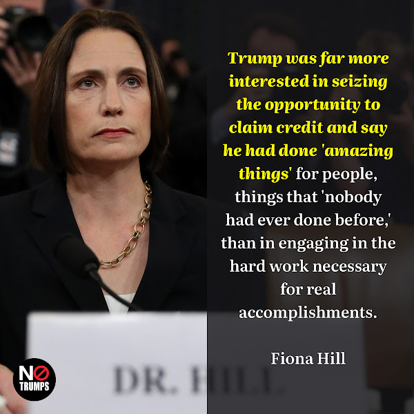 Trump was far more interested in seizing the opportunity to claim credit and say he had done 'amazing things' for people, things that 'nobody had ever done before,' than in engaging in the hard work necessary for real accomplishments. — Fiona Hill, Trump's former top Russia advisor