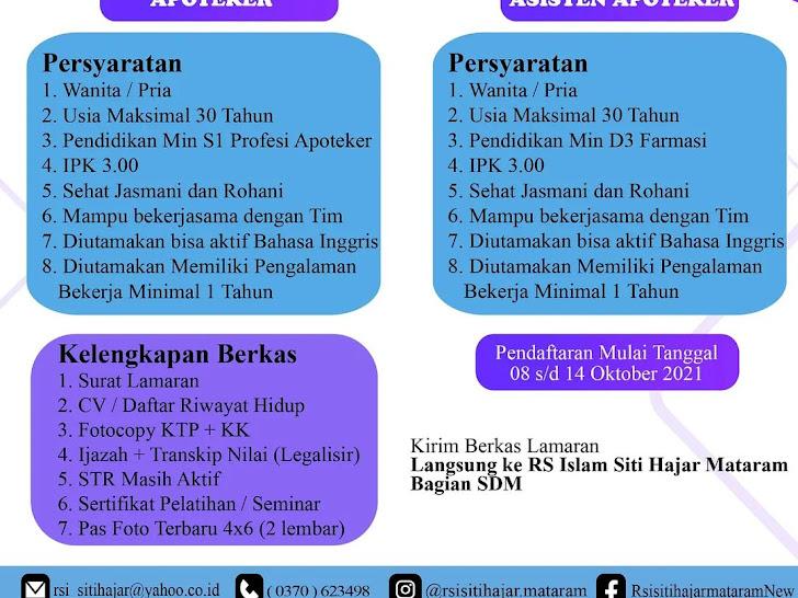 Lowongan Kerja RSI Siti Hajar Mataram Lombok NTB