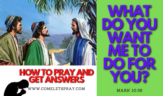 WHAT DO YOU WANT THE LORD TO DO FOR YOU?|HOW TO PRAY AND GET ANSWERS|29th Sunday|Year B