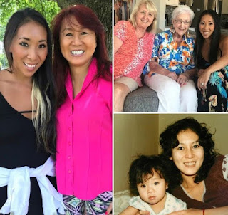 Picture collection of Christine Bui Allegra with her mother