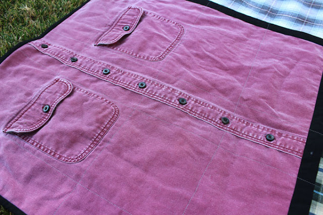 quilting on a shirt quilt