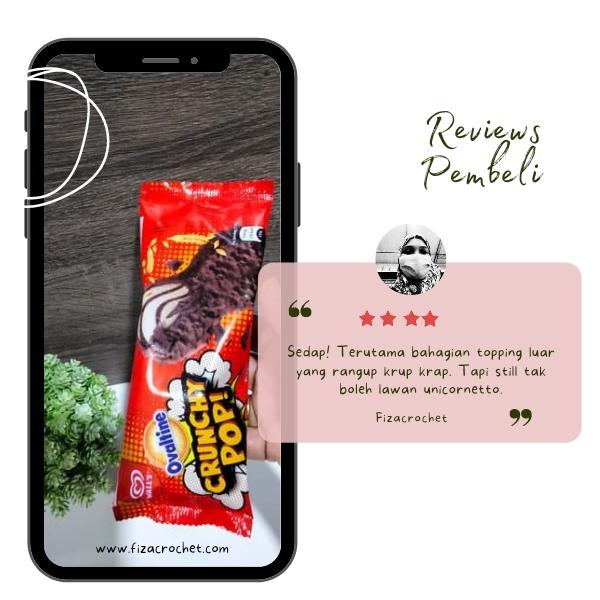 Aiskrim Ovaltine Crunchy Pop Jenama Wall's