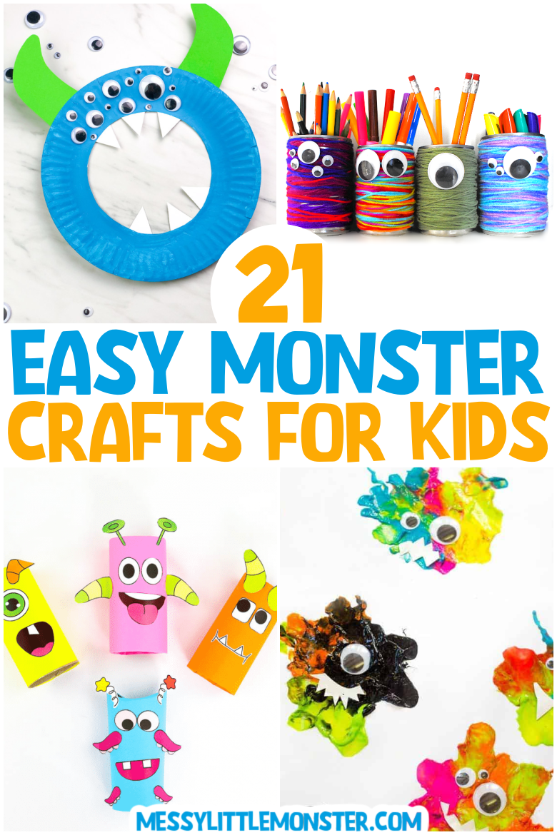 Cute and easy monster crafts for kids