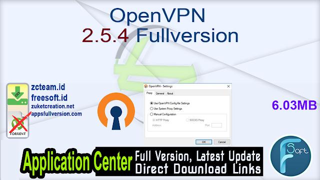 OpenVPN 2.5.4 Fullversion