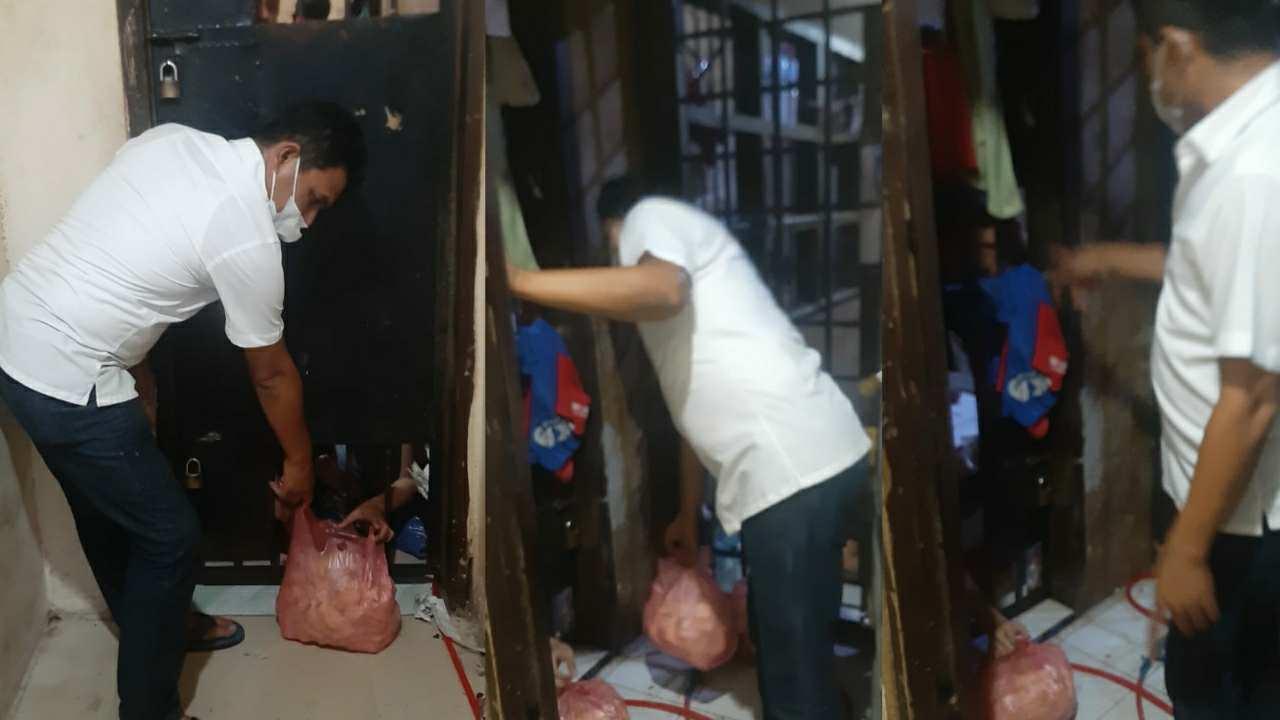 Polsek Medan Baru Bagikan Makanan Ubi Rebus Kepada Tahanan Setiap Malam