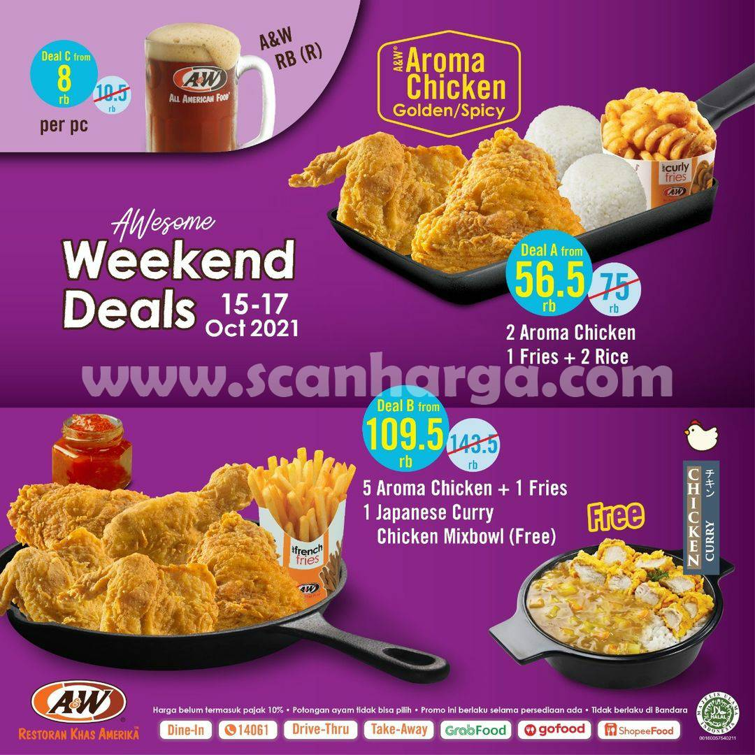 Promo AW Restoran Weekend Deals Periode 15 - 17 Oktober 2021