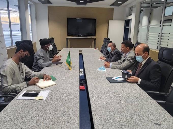 Una delegación saharaui se reúne con el presidente del Consejo de Paz y Seguridad de la Unión Africana.