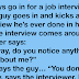 Joke: Three guys go in for a job interview
