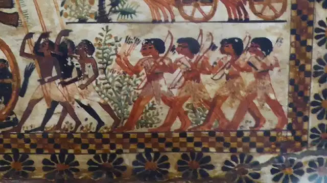 Ancient Egyptian Bow and Arrow