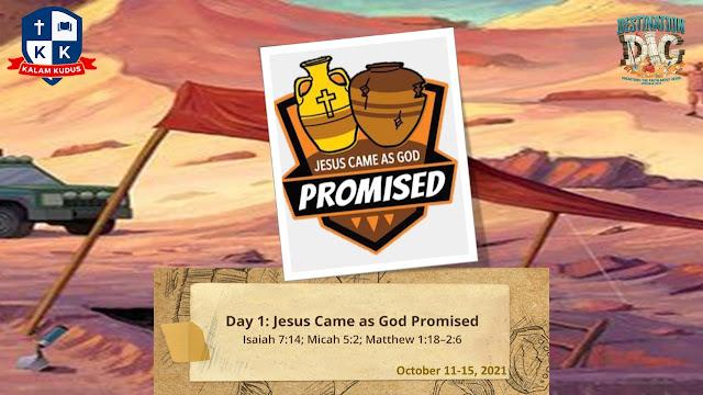 VBS KB-TK Kristen Kalam Kudus 2021 Day 1