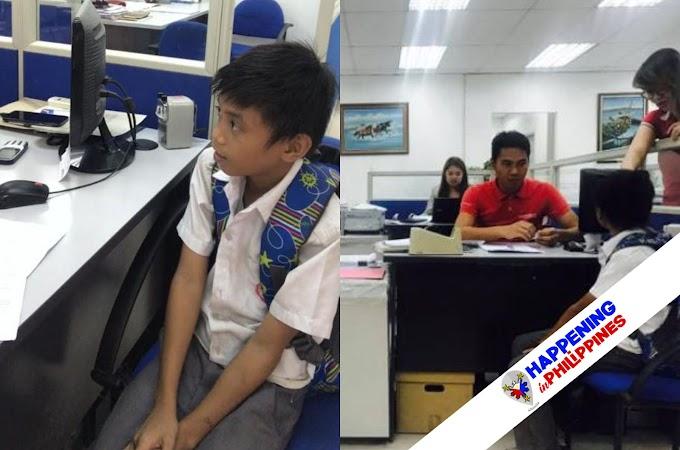 Isang Grade-5 Pupil, Nag-apply Bilang Isang Janitor para May Pambili ng Project sa School