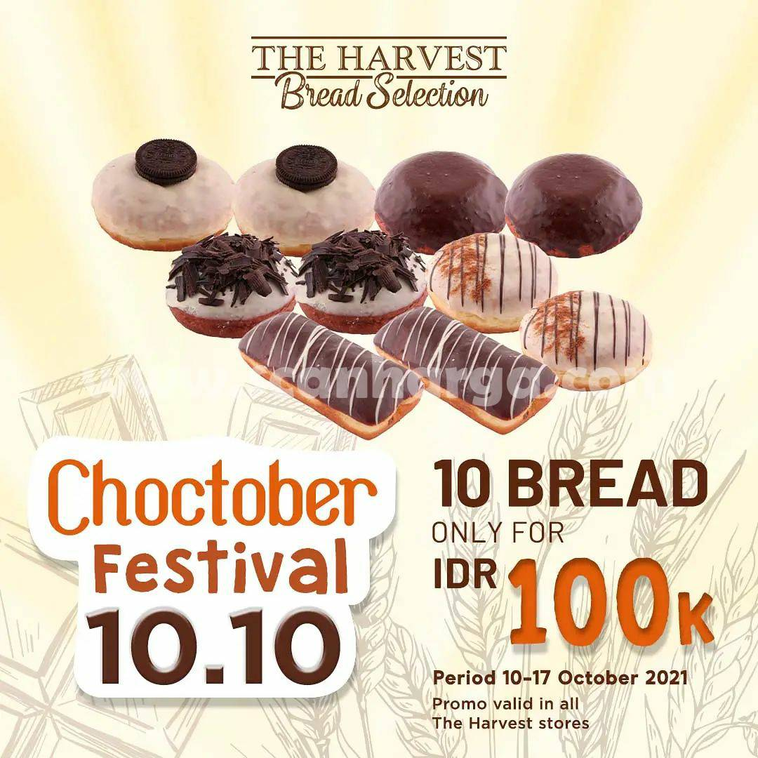 Promo Choctober The Harvest Festival 10.10 - Beli 10 Roti cuma Rp. 100.000