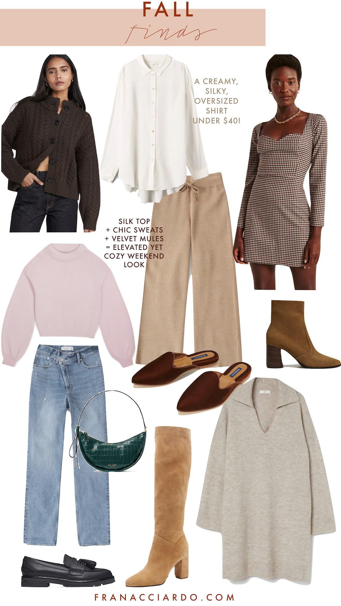 fall shopping wishlist 2021 autumn fashion under $100 fran acciardo