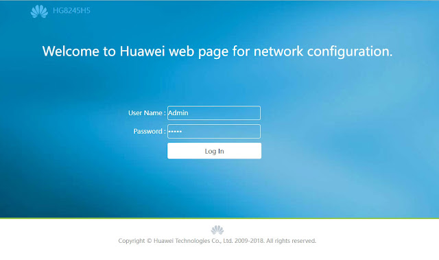 Login admin modem indihome huawei