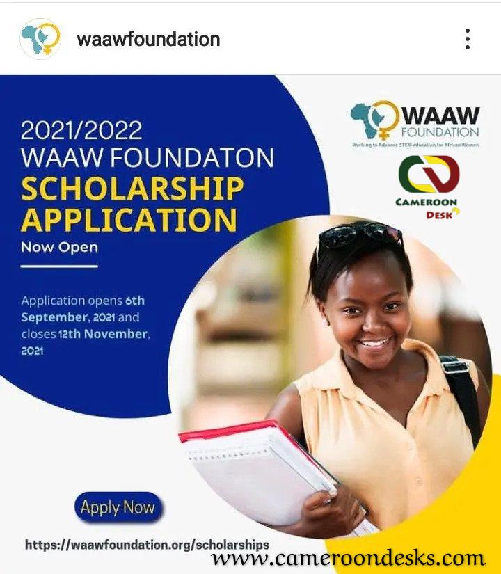 Bourse de la Fondation WAAW pour Étudiantes Africaines  2021-2022