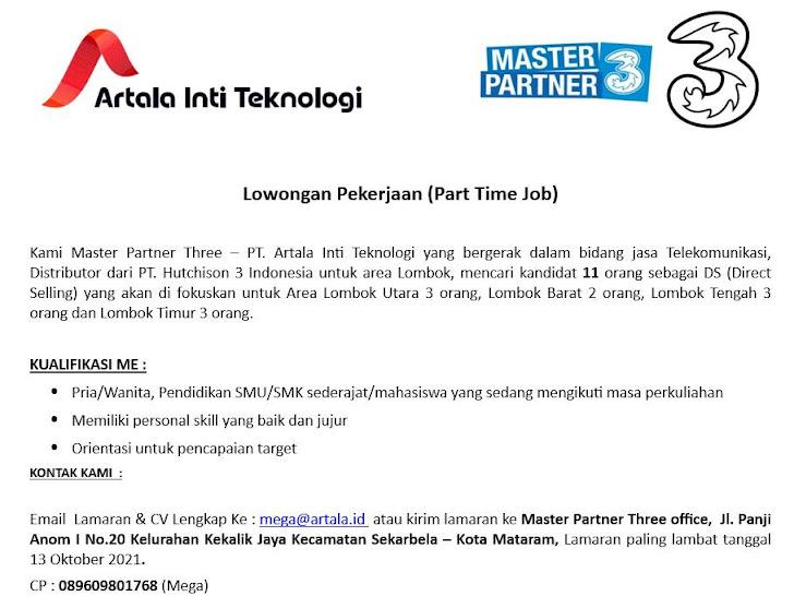 Lowongan Kerja PT Artala Inti Teknologi Mataram Lombok NTB