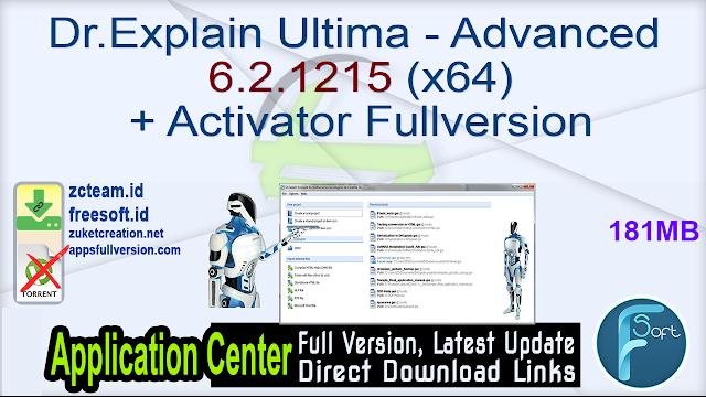 Dr.Explain Ultima – Advanced 6.2.1215 (x64) + Activator Fullversion