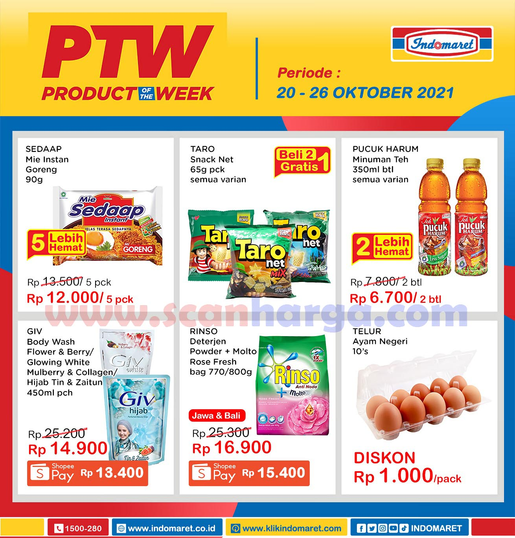 Katalog Indomaret Product Of The Week Promo PTW 20 - 26 Oktober 2021