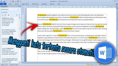 Cara Mengganti Teks  Secara Otomatis Dalam Dokumen Word 2010