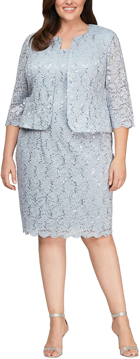 Mother of the Bride Dresses Knee Length Plus Size