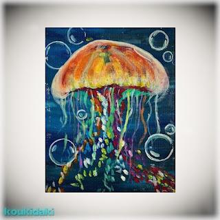 Πίνακας Sarah Leventis (Colourful jelly)