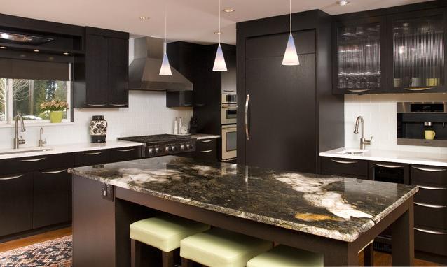 black brown kitchen cabinets