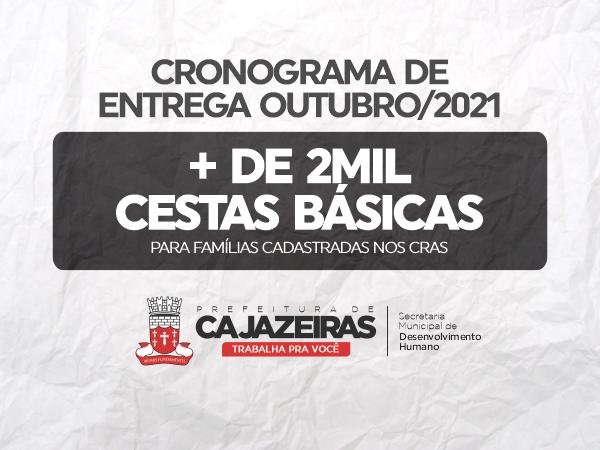 Mais assistência: Prefeitura de Cajazeiras vai realizar nova etapa de distribuição de cestas básicas