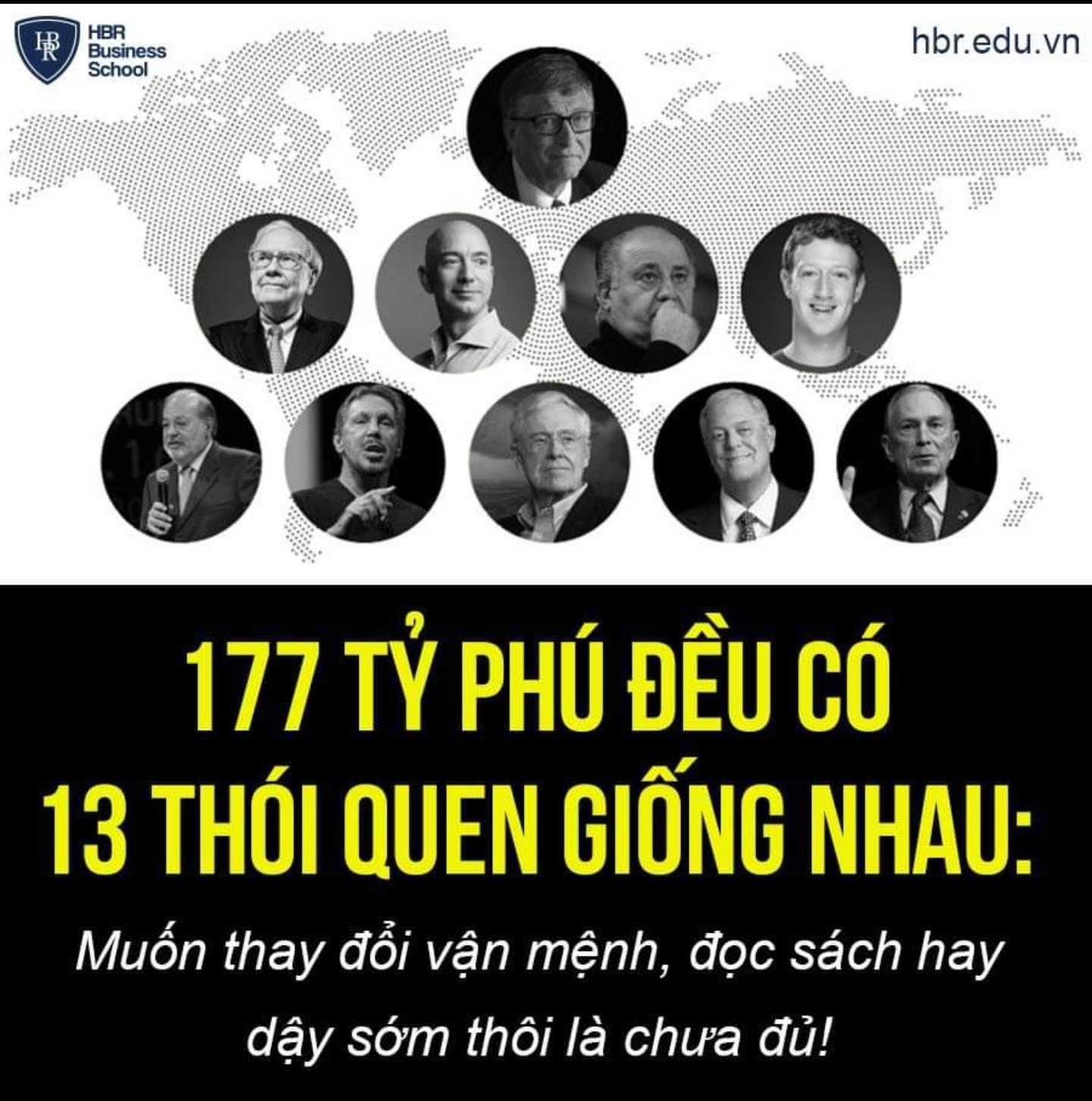 177 TỶ PHÚ ĐỀU CÓ 13 THÓI QUEN GIỐNG NHAU!