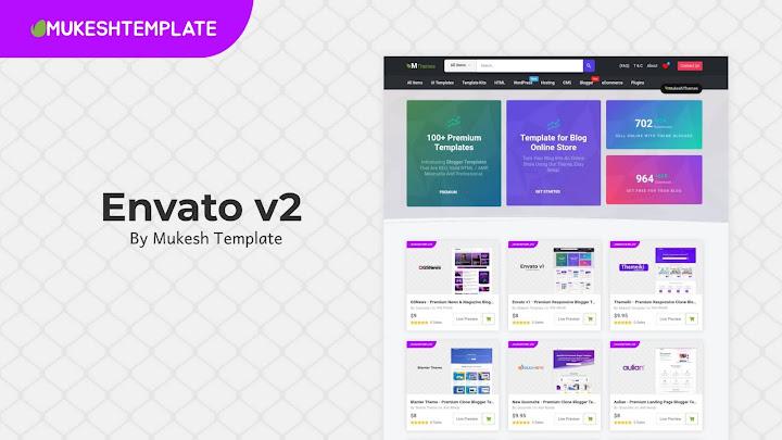 Envato v2 - Premium Responsive Blogger Template