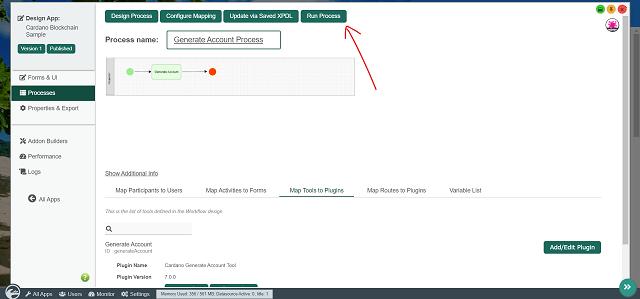 Run the Generate Account Process
