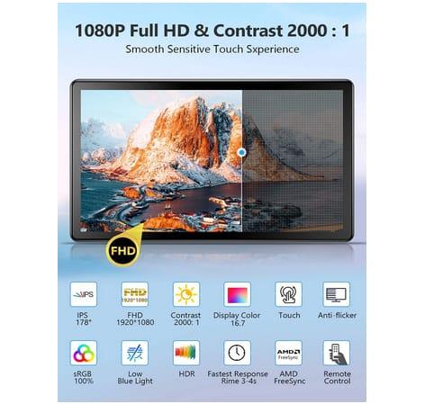 Usparkle CX156TP-C 15.6 inch 1080p IPS Touchscreen Monitor