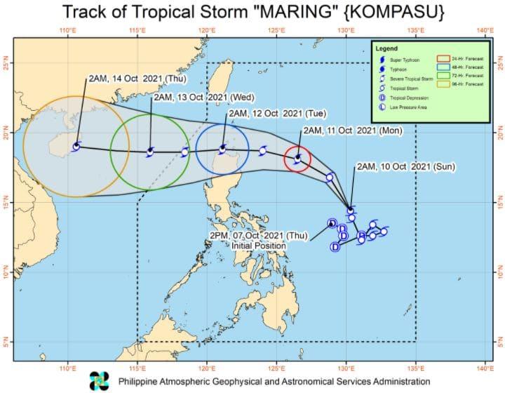 'Bagyong Maring' PAGASA track