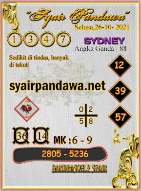 Gambar Syair Pandawa Sidney selasa 26 oktober 2021