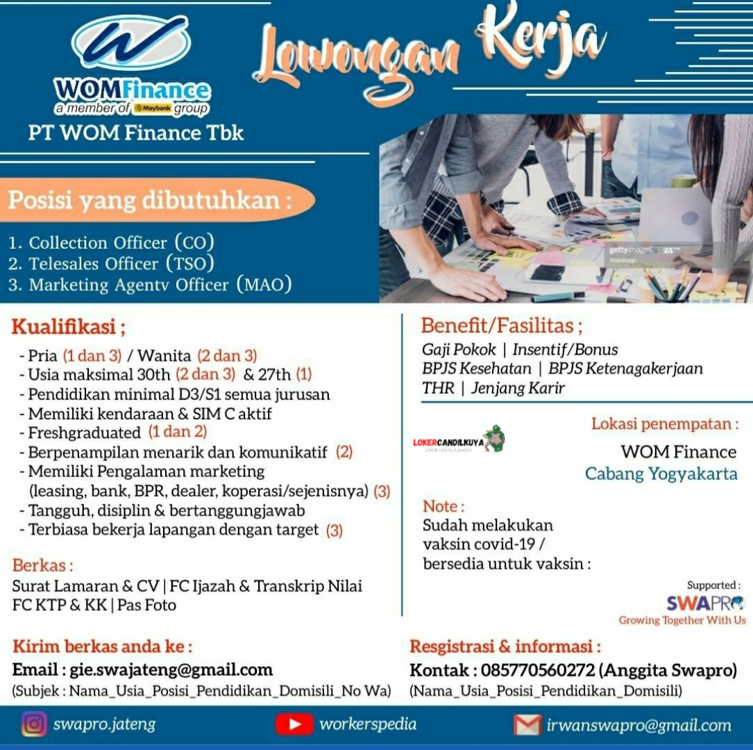 Lowongan Kerja PT WOM Finance Yogyakarta