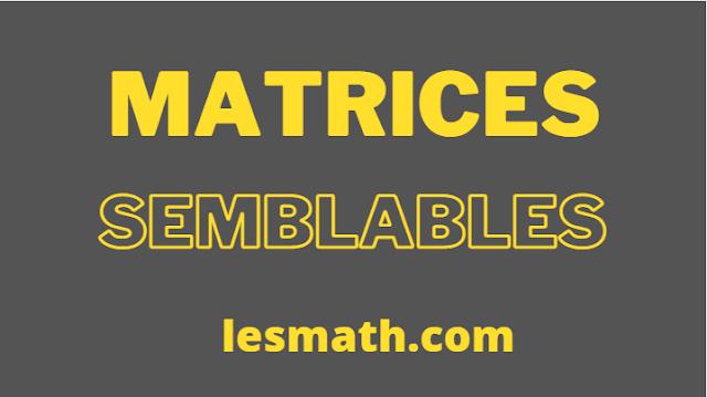matrices-semblables