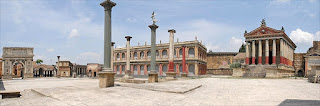 A reconstruction of ancient Rome is part of the Cinecittà complex in the south of the city